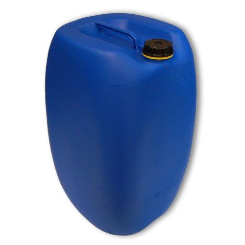 Wilai GmbH Bidon – Jerrican 60 L, Bleu HDPE Ouverture DIN 61 qualité Alimentaire, 1 poignée Centrale (22250)