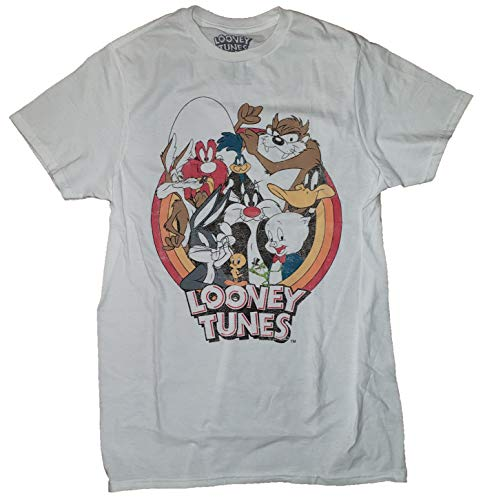 Looney Tunes Group Shot White Graphic T-Shirt - Small