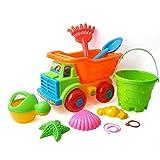 Chendaorong Juego del Cerebro Castillo Cubo Pala Pala Rastrillo Hervidor Juguetes for niños Conjunto de 7 Juguetes de Playa Juguetes para niños pequeños para niños