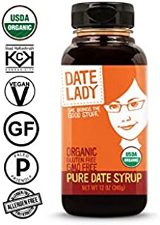Date Lady Organic Date Syrup 12 Ounce Squeeze Bottle | Vegan, Paleo, Gluten-free & Kosher