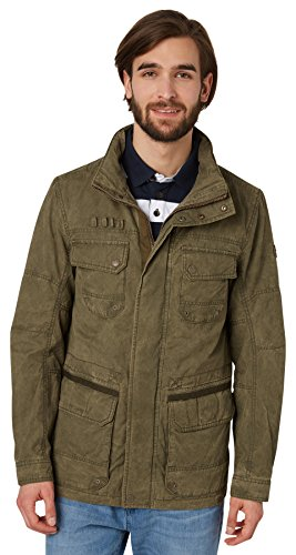 TOM TAILOR Herren Field Jacket Jacke, Mehrfarbig (Mango Olive 7769), Large