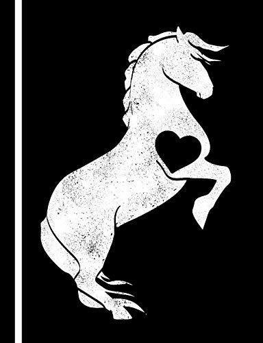 Dressurreiten Notizbuch: Das Notizheft für Pferde Freunde - 140 karierte Seiten für deine Notizen. Mit einem Pferd der Reitkunst Reitfigur Pesade bei der Dressur.