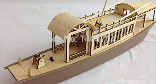 ZNYB Model Ships Kits For Adults Laser-cut wood ship model kit chinese Gaily-painted Pleasure-boat strypped-down antique emperor sightseeing boat