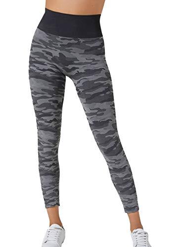 BeGood - Leggings Sport Militare Camouflage Snellente Donna. Tonifica, Drena, Idrata, Combatte la Cellulite mentre lo utilizzi. In tessuto Tecnico Brevettato e Clinicamente Testato