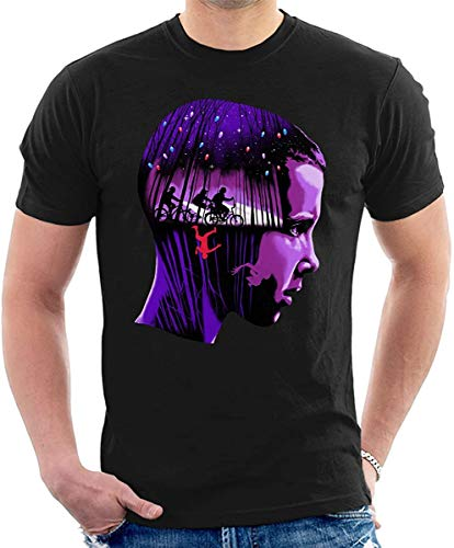 N/A Eleven Upside Down Montage Stranger Things Camiseta Homb