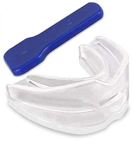 Férula Dental Placa de Descarga Nocturna Protector Bucal, Mouth Guard Stop Teeth Grinding Anti Snoring para dormir anti Bruxismo Rechinar los dientes e los Trastornos del ATM