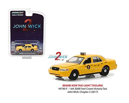 2008 Ford Crown TAXI ' John Wick 2 ' Film Auto - Greenlight 1:64