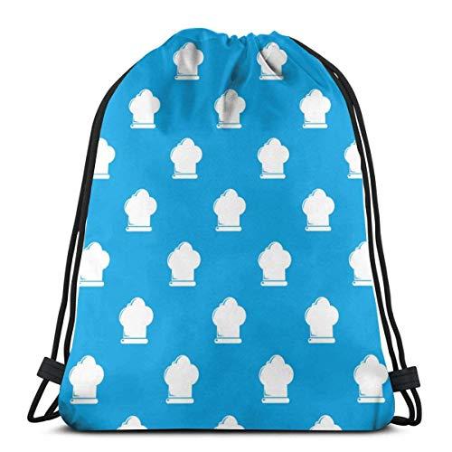 Chef Hat Pattern Drawstring Bapa Bag Sport Gym Sapa Impermeable Hombres Mujeres Cincha Bolsa para Viajes Yoga Playa Escuela
