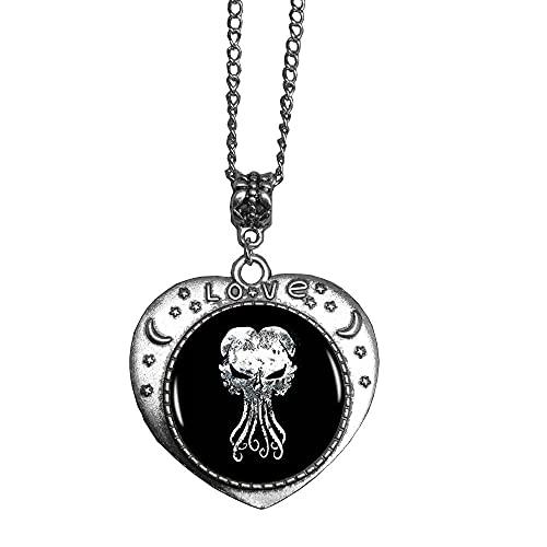 Collar hecho a mano Cthulhu, colgante de cúpula de cristal Kraken, regalo para ella, joyería libre nekel, collar delicado, collar simple, N138