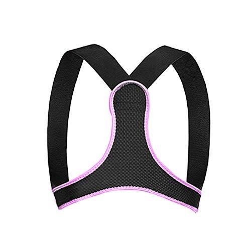 Corrector de Postura Espalda y Hombros para Hombre y Mujer, Enderezador de Espalda Transpirable Ajustable Aliviar Dolor de Espalda en el Cuello Joroba Espalda Recta Soporte Faja 01,Pink,S(62-79cm)