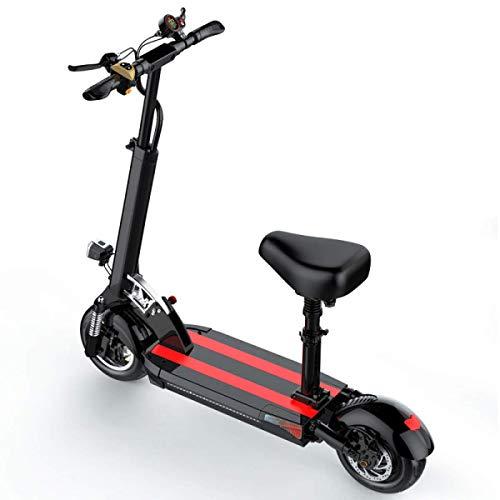 Scooter Eléctrico Plegable 500W Motor Sin Escobillas 45Km Largo Alcance 3 Modos...