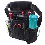 AGOOL 腰袋 ウエストバッグ 電工腰袋 釘袋 ベルト付き 職人 作業用 ホルダー付き 工具差し入れ 大容量収納 超頑丈 おしゃれ 軽量