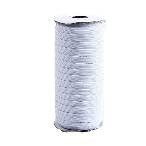 Elastisches Strickband mit hoher Elastizität, 4 mm breit, Spule mit 180 m  weiß
