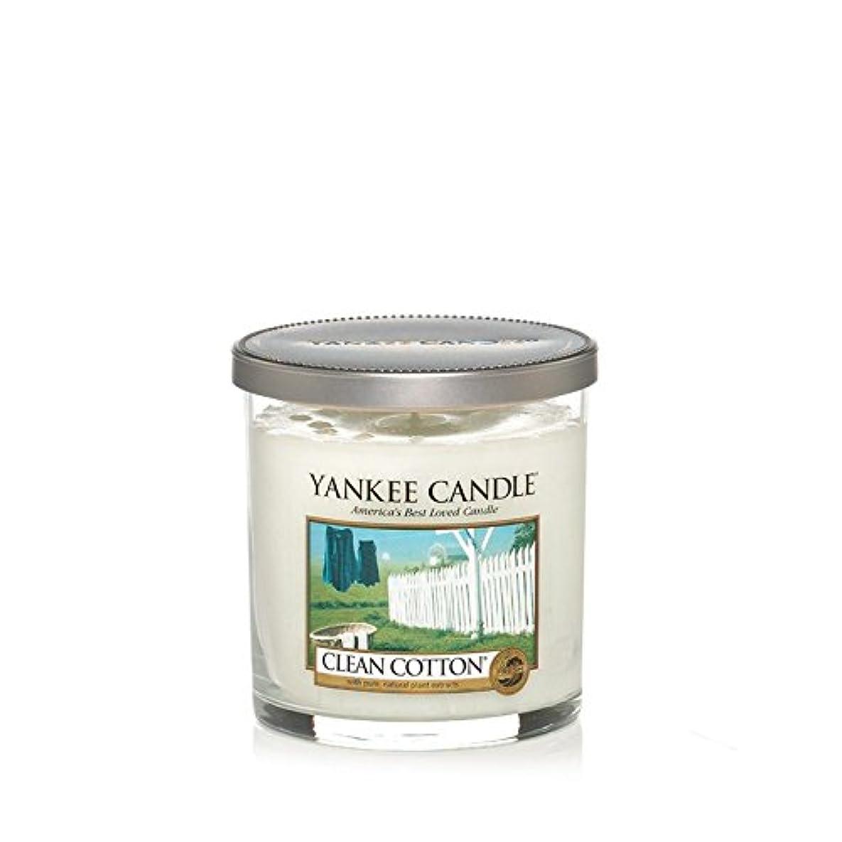 プランター毛皮重々しいYankee Candles Small Pillar Candle - Clean Cotton (Pack of 6) - ヤンキーキャンドルの小さな柱キャンドル - きれいな綿 (x6) [並行輸入品]