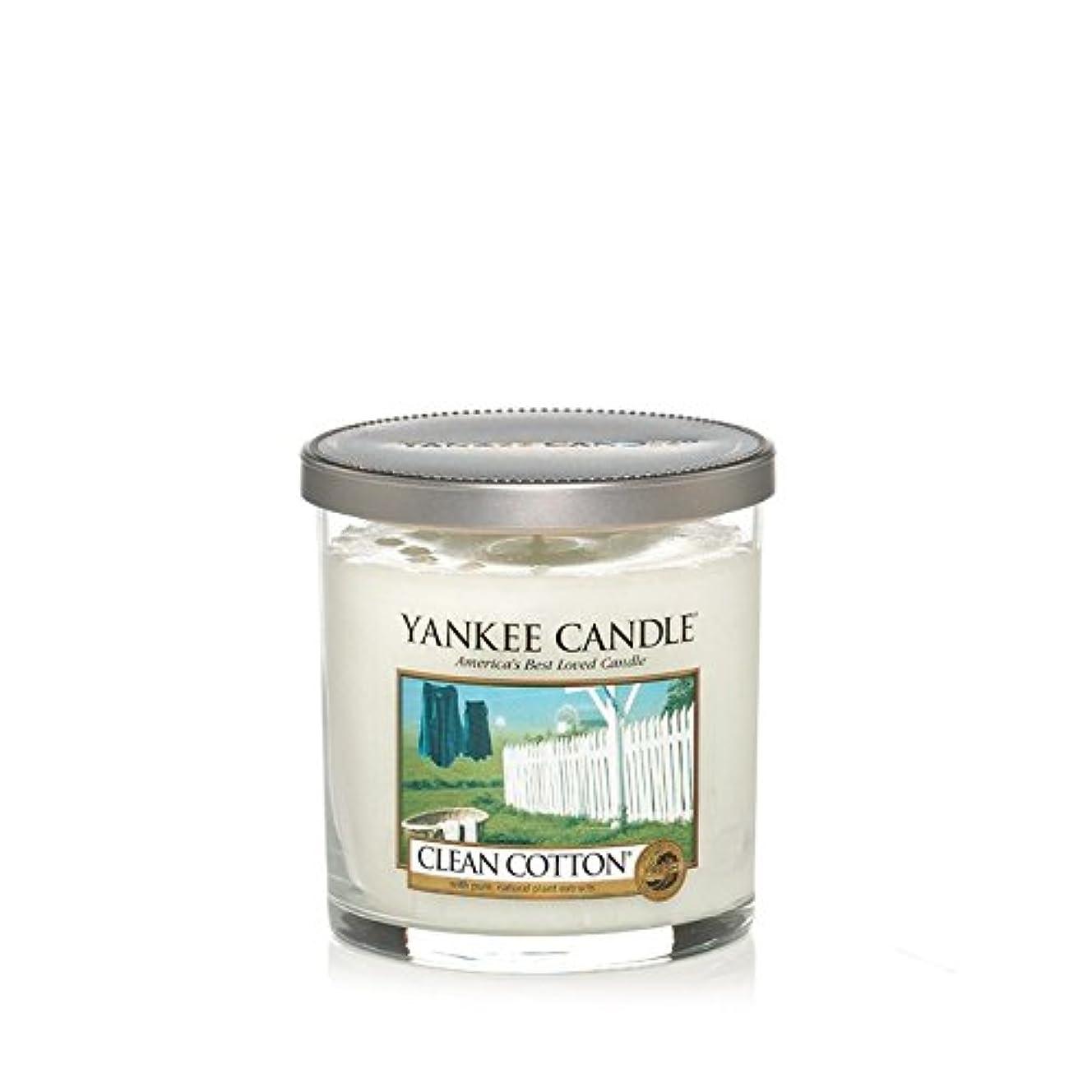 大脳事実上代数Yankee Candles Small Pillar Candle - Clean Cotton (Pack of 6) - ヤンキーキャンドルの小さな柱キャンドル - きれいな綿 (x6) [並行輸入品]