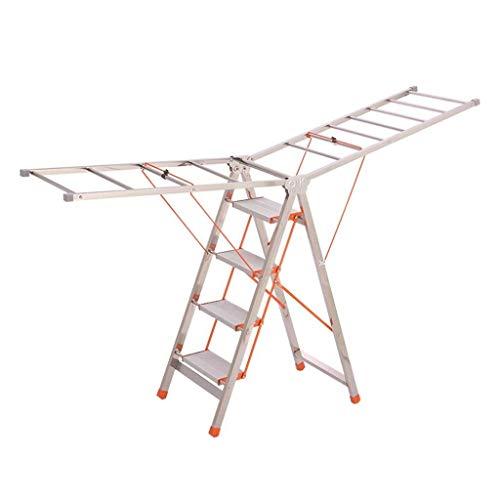Multifunctionele ladder Dual-purpose metalen ladder, opklapbare RVS Ladder balkon Woonkamer Five Step Ladder in vier stappen Outdoor Ladder Huishoudelijke ladder Ladder huis vouwen