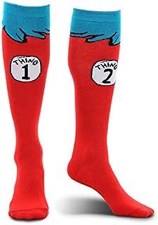 elope Dr. Seuss Thing 1 & 2 Costume Socks for Kids
