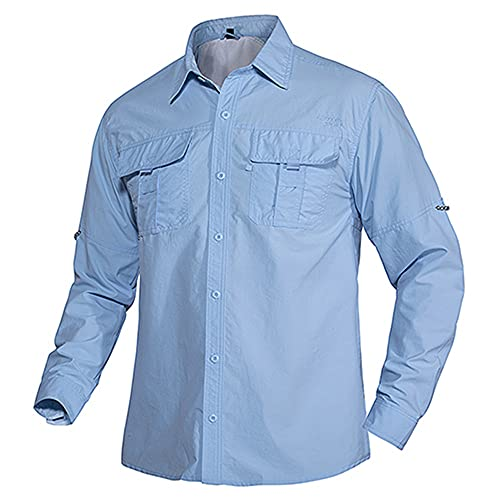 N\P Verano de secado rápido camisas de trabajo hombres ligero militar táctico camisas