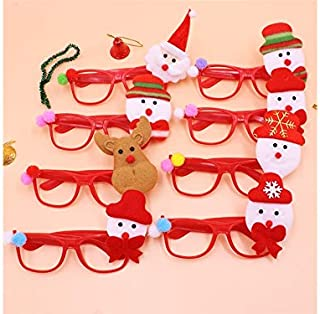 Pengcher Christmas Ornaments Glasses Frames Evening Party Toy Xmas Gifts Decoration Without Lenses(Random)