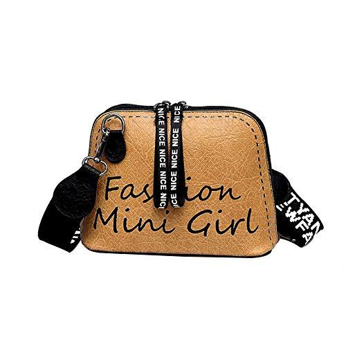 OSYARD Damenmode Druckschulterbeutel-PU-Leder Handtasche Schulranzen Reißverschluss Umhängetasche Casual Schultertasche Crossbody Messenger Tasche