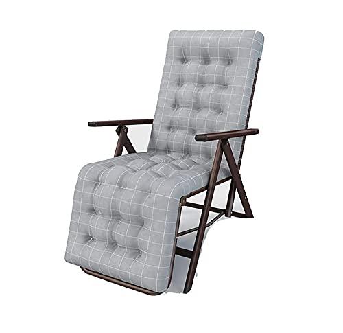 BBSC Sillón reclinable de Tejido de ratán PE,Silla Plegable portátil Ajustable para Exteriores,sillón reclinable para terraza jardín Plegable para el hogar,con tubería de Acero de 35 mm C