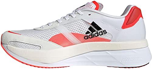 adidas Herren Adizero Boston 10 M Laufschuh, FTWR White/core Black/solar red, 45 1/3 EU
