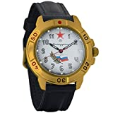 Vostok Komandirskie 2414 Reloj Militar Ruso mecánico de Cuerda Manual // 439277 (Classic)