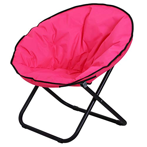 Outsunny Klappstuhl Klappsessel Campingstuhl Gartenstuhl Polstersessel Lounge Sessel faltbar Metall + Oxfordstoff Pink 80 x 80 x 75 cm