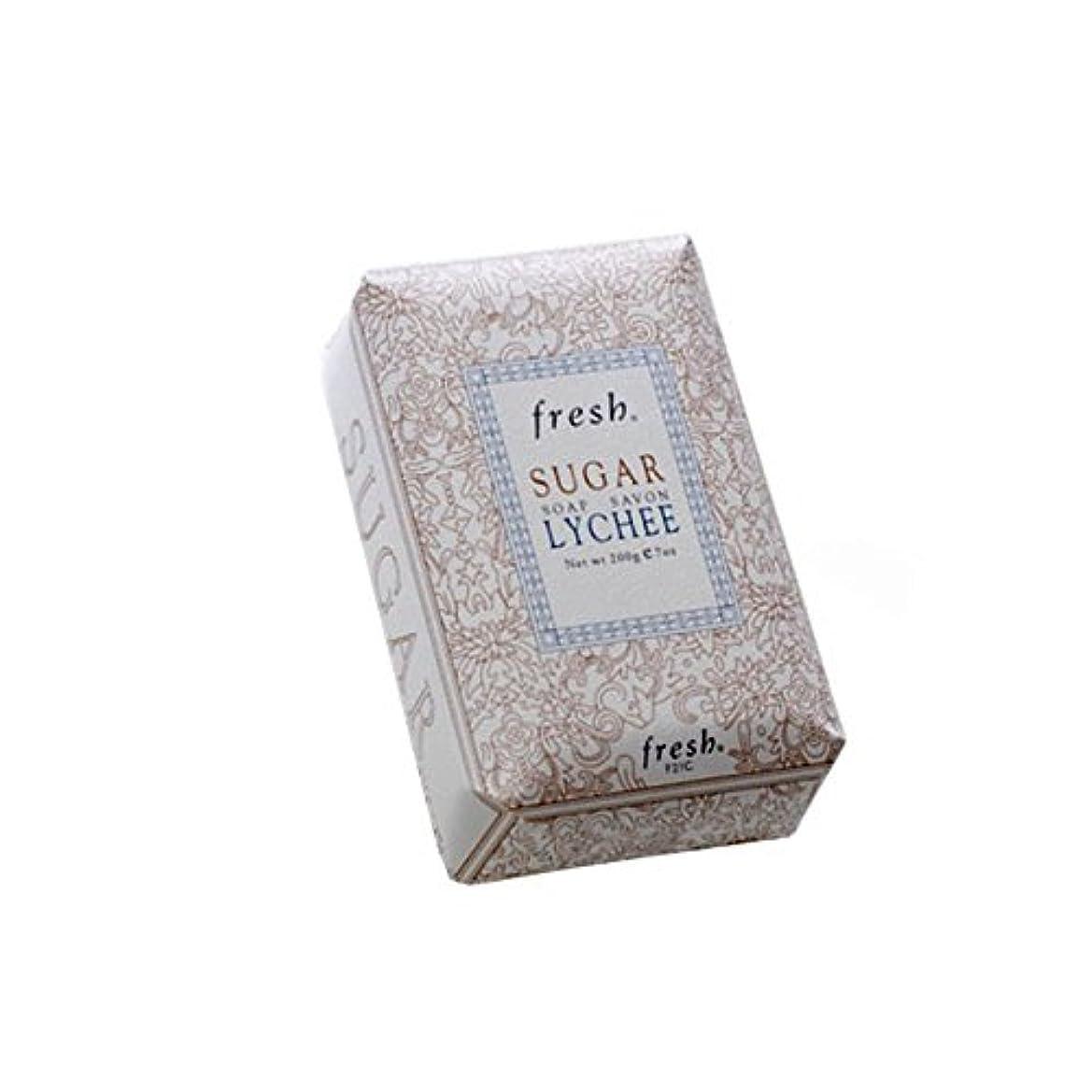 うがい薬ストライプ指紋Fresh フレッシュ シュガーライチ石鹸 Sugar Lychee Soap, 200g/7oz [海外直送品] [並行輸入品]