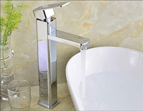 VZJSLT Moderne waterkraan, retro-waterkraan, 360 graden draaibaar, roestvrijstalen waterkraan, eenhands-waterkraan, zinklegering, verhoogde bekken, plaatsen, eengatmontage, koud bekken, waterkraan