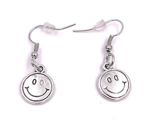 H-Customs Orecchini Happy Smile in Metallo Argentato