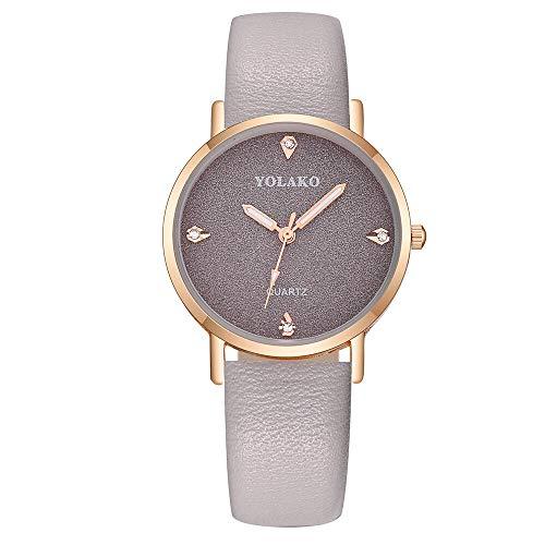 JZDH Relojes para Mujer Moda Tendencia Casual Cuarzo Cuarzo Banda Sky Watch Reloj de Pulsera Análogo Moda Trend Popular Creativo Relojes Decorativos Casuales para Niñas Damas (Color : B)