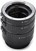 Kaavie Set Automatic Extension Tubes Aluminium Version for Canon EOS EF AF Canon EOS Canon EOS Mark I-IV  1Ds Mark I-III  Mark I-III  60D 50D 40D 30D 20D 10D 1100D 1000D 650D 600D 550D 500D