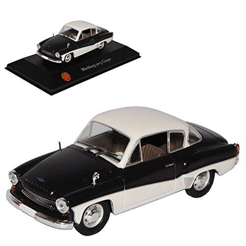 Atlas Wartburg 311-3 Coupe Schwarz Weiss 1955-1965 1/43 Modell Auto