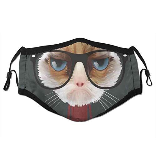 Copertura facciale antipolvere protettiva per bocca lavabile,Felino dei pantaloni a vita bassa con la camicia di plaid,Riutilizzabile antivento per la corsa all'aperto di campeggio di ciclismo di sci