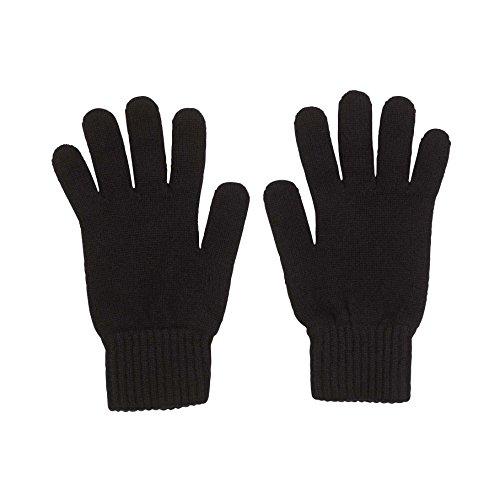 100% Kaschmir Herren Handschuhe hergestellt in Schottland (schwarz)
