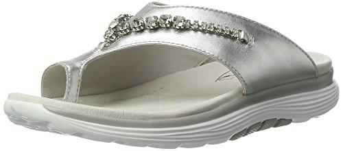 Gabor Shoes Damen Rollingsoft Zehentrenner, Silber (Silber (Deko) 10), 42 EU