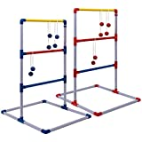 Champion Sports Deluxe Outdoor Ladder Ball Game: Backyard Party, Camping & Beach Games Ladder Golf Set for Adults and Kids with Bolas Balls and Carrying Case