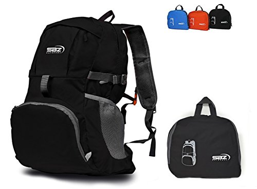 Durable Lightweight Foldable Packable Backpack By SBZ Outdoors: For Hiking, Camping, Daypack, and Travel.