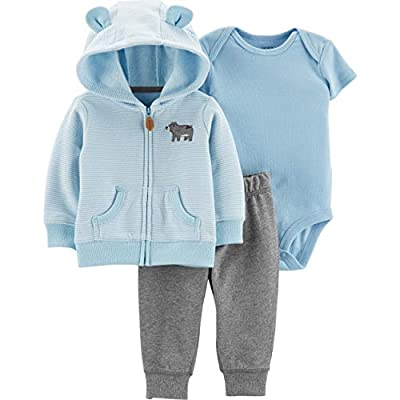 Carter's Baby Boys' Cardigan Sets 121h271 (24 Months, Baby Blue Bear)