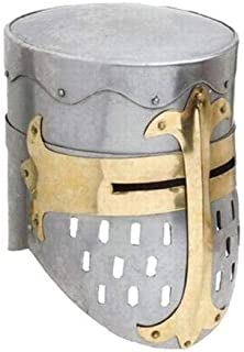 Medieval Sugarloaf Great Helm Crusader Knight Helmet