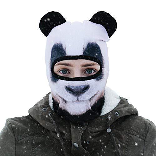 Beardo ® Original Sturmhaube HD | Skimaske, Kälteschutz, Gesichtsschutz, Sturmmaske (Panda)