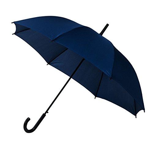 Falconetti paraplu, unisex, blauw - automatisch openingssysteem, windbestendig, brede bescherming met 103 cm diameter