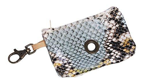 Da Vinci Beatrice Lederen Poop Python Design Tas, Lichtblauw