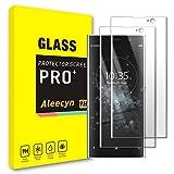 Protector Pantalla para Sony Xperia XA2 Plus [2 Piezas][9H Dureza][Cobertura completa][3D Curvo] Edge Completa Cristal Vidrio Templado Protector de Pantalla para Xperia XA2 Plus