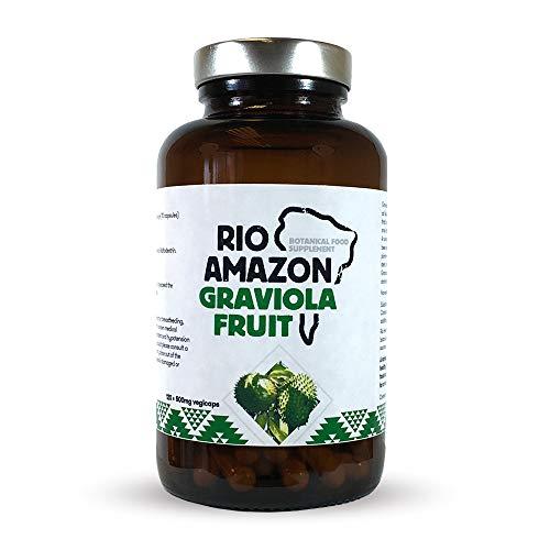 Rio Amazon, Cápsulas de Graviola 500 mg, 120 cápsulas