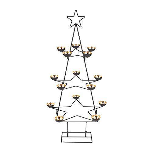 Villeroy & Boch - Christmas Decoration Dekobaum, filigraner Dekor-Tannenbaum für die Festtafel und Adventszeit, metall, 90 cm