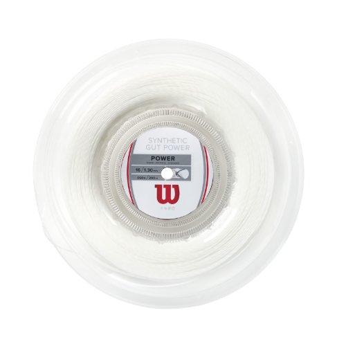 Wilson Synthetic Gut Power 660-Feet Reel, White, 16