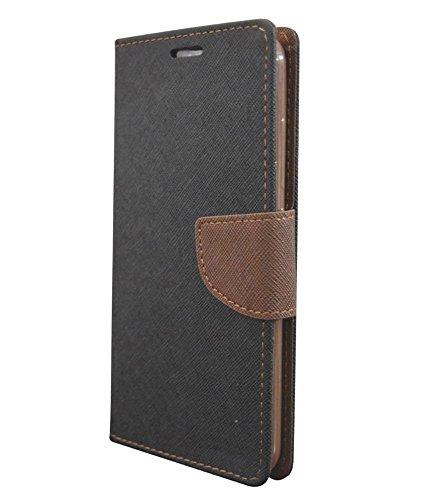 COVERNEW Flip Cover for Samsung Galaxy Grand Prime SM-G530H Black::Brown 1MercuryGalaxyGrandPrimeG530HBlackBrown
