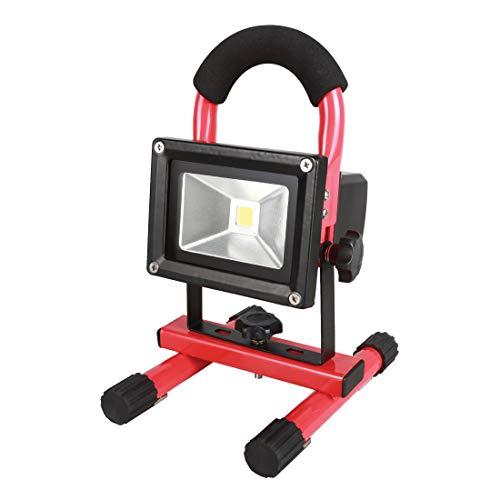 KS Tools 150.4383 Projecteur 10w sur batterie lithium 7,4v 4,4ah 600 lumens, Rouge/Noir